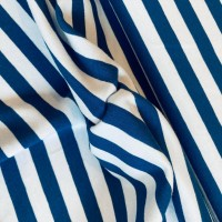 Blue Stripes in Grey Tricot